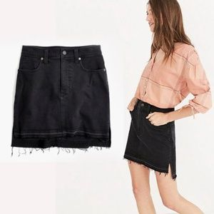 NWT Madewell Black Step-Hem Jean Skirt